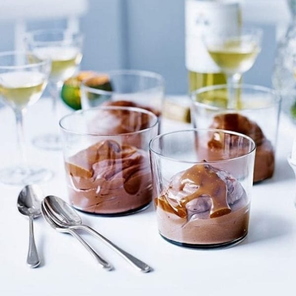 caramel chocolate mousse
