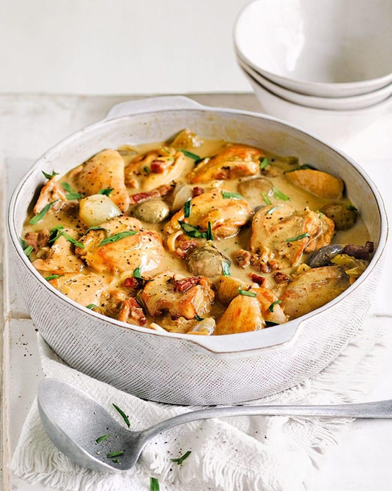 Creamy tarragon chicken casserole