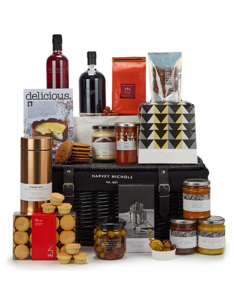 Win a delicious. Christmas hamper from Harvey Nichols, worth £125