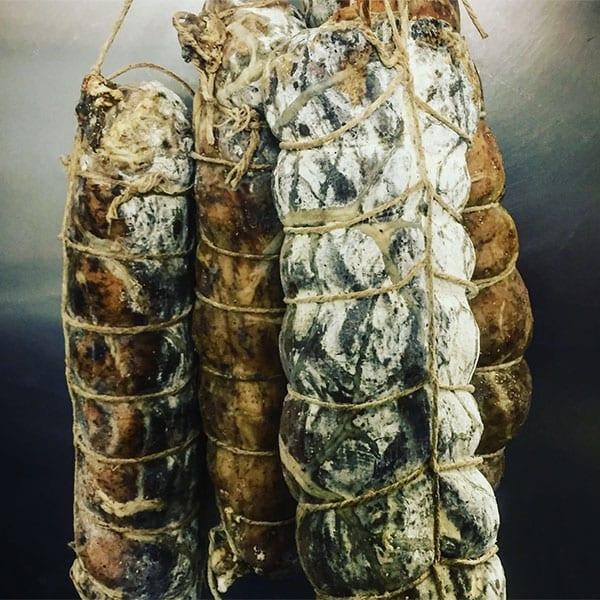 achari spiced salami