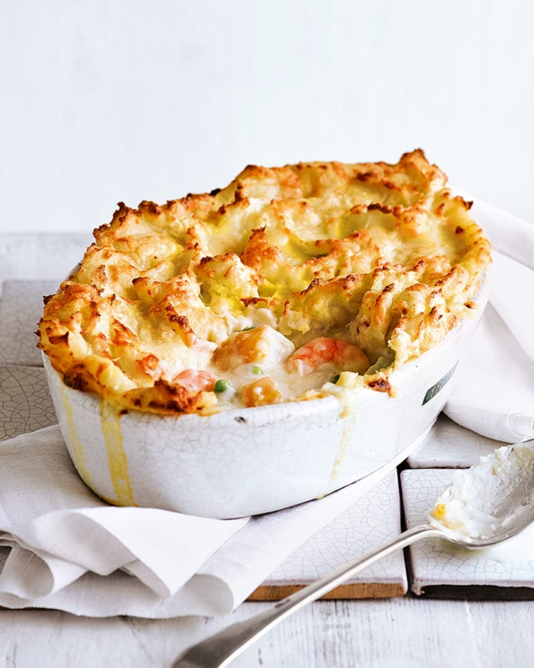 Smoked haddock and mackerel fish pie