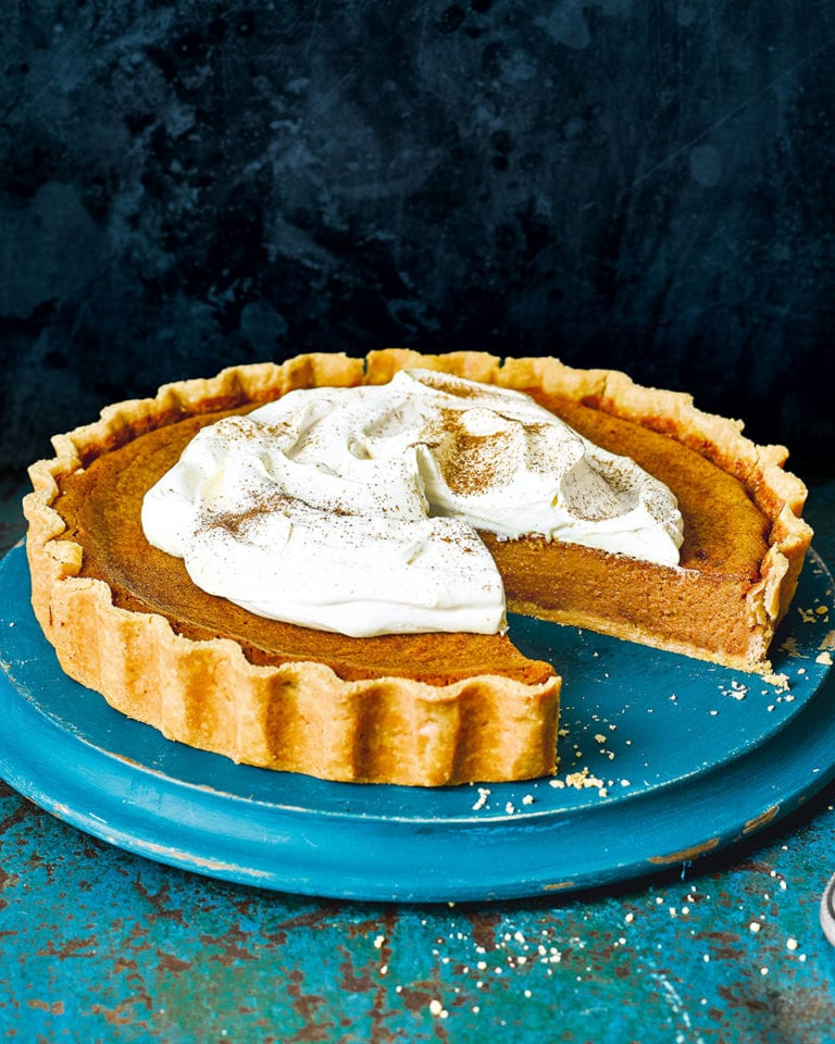 Ginger and rum pumpkin pie