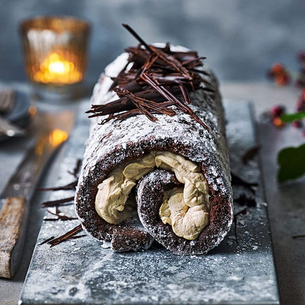 White russian roulade
