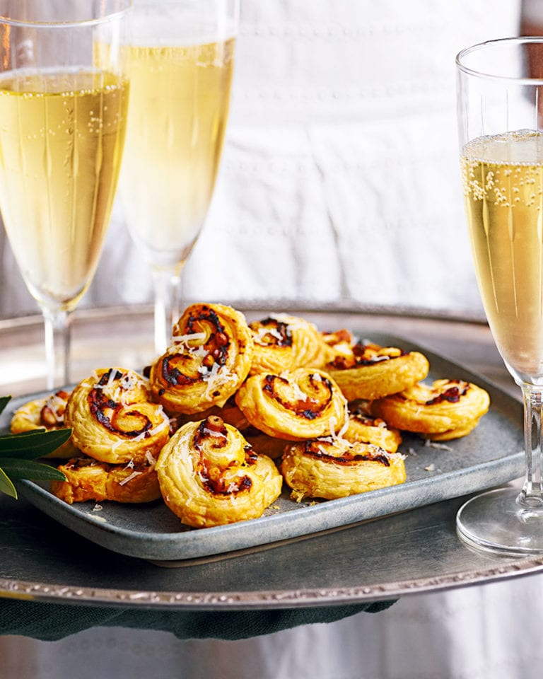 Harissa and pine nut palmiers
