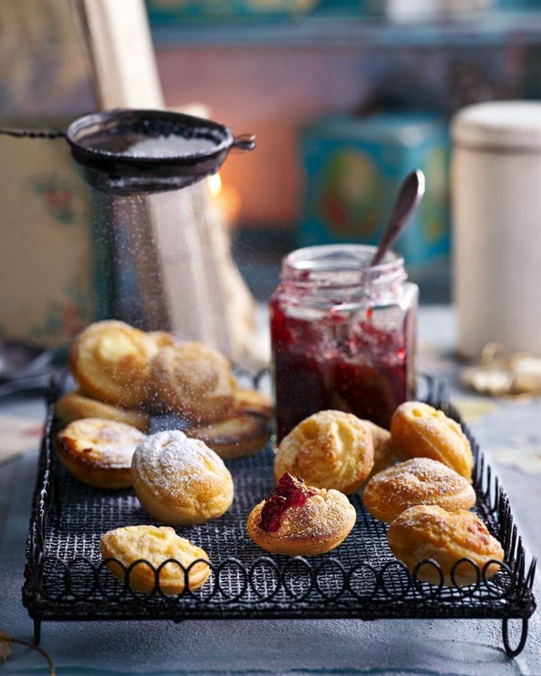 Danish apple doughnuts (æbleskiver)