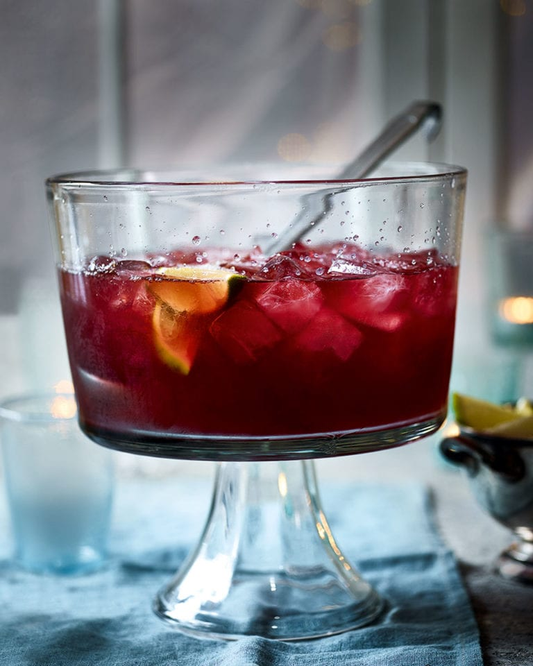 The delicious. gin party punch