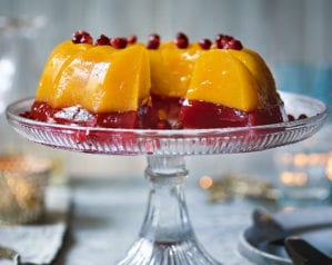 Clementine, pomegranate and cranberry jelly