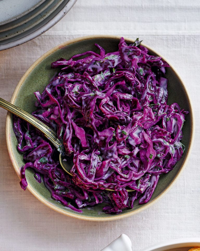 Red Cabbage Slaw Recipe Delicious Magazine