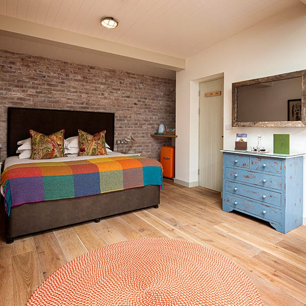 The bedroom - inside the 'potting shed'