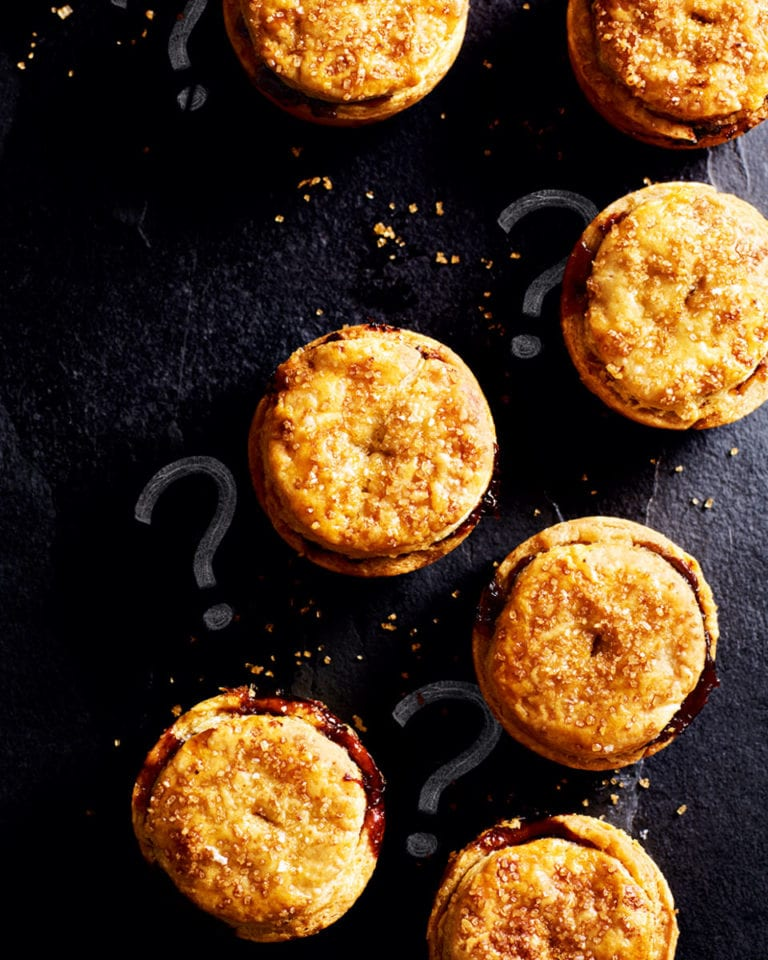 Demerara rough puff pastry mince pies