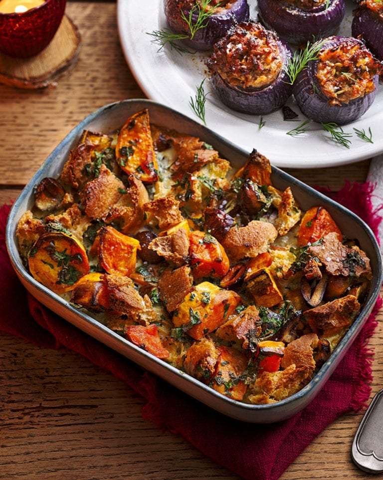 Sweet potato, ciabatta and chestnut stuffing