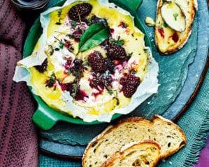 Bramble and bay jam baked camembert