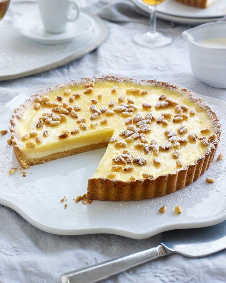 Torta della nonna (ricotta and lemon tart)