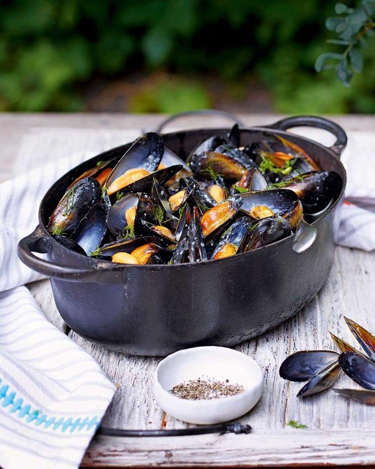 Mussels skordalia