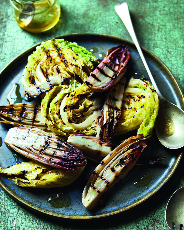 Chargrilled chicory and cabbage salad