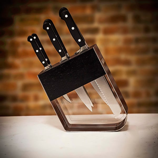 Stylish knife block set, worth £460