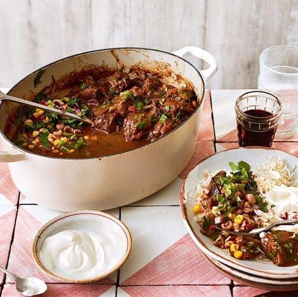Braised beef chilli