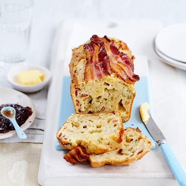 Quick and easy cheddar and bacon loaf