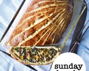 The vegetarian Sunday lunch menu