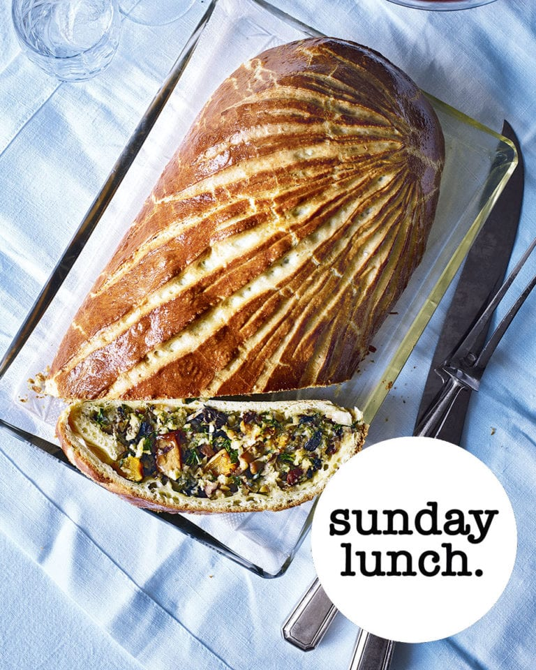 The vegetarian Sunday lunch menu