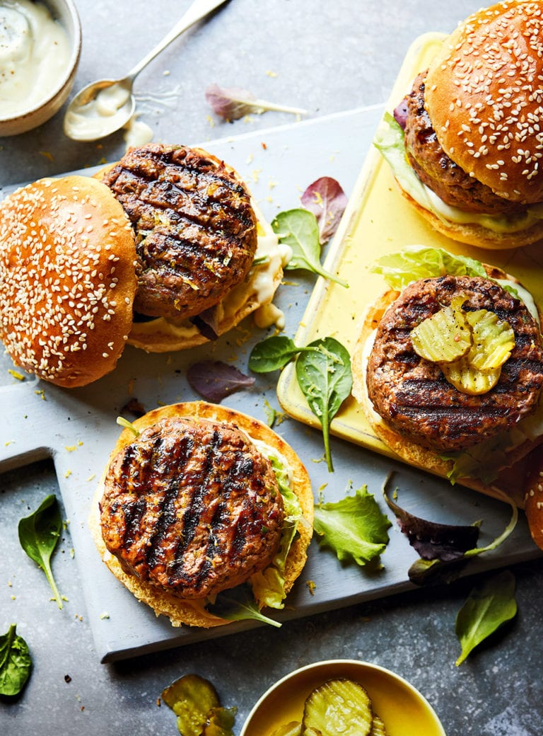 Beef and bean burgers
