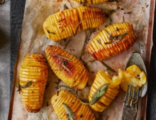 Herby hasselback potatoes