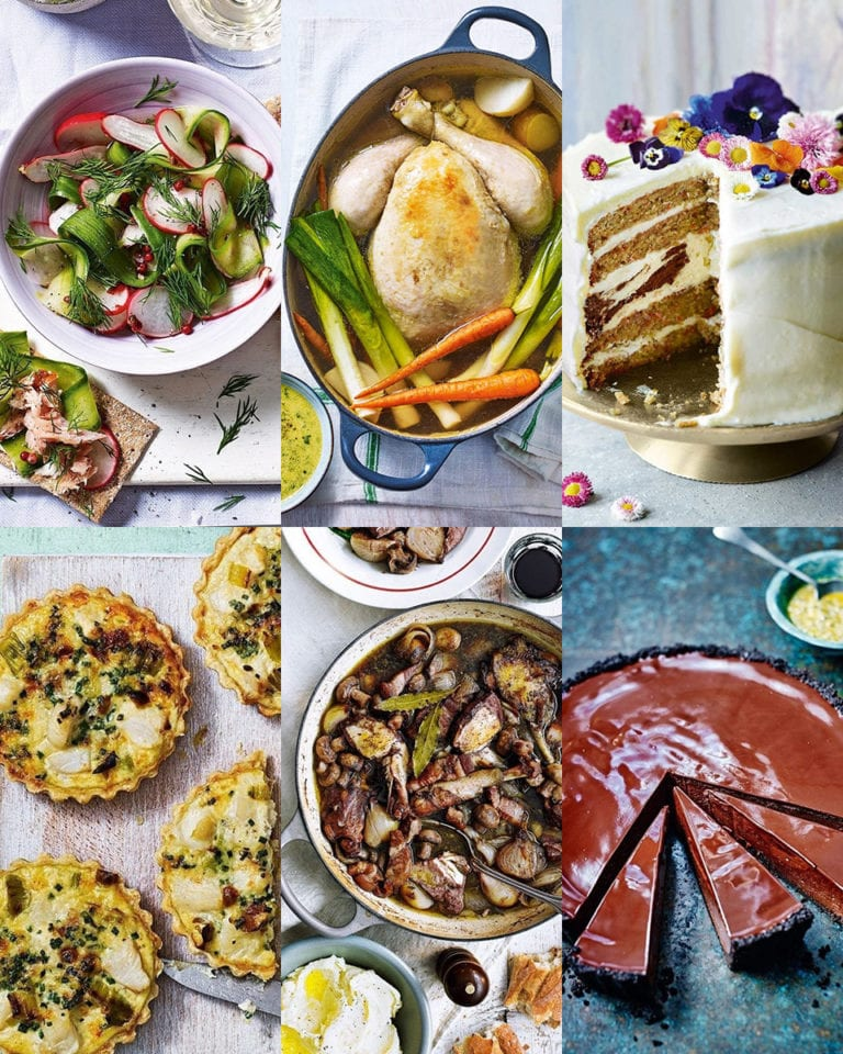 4 three-course menus for March