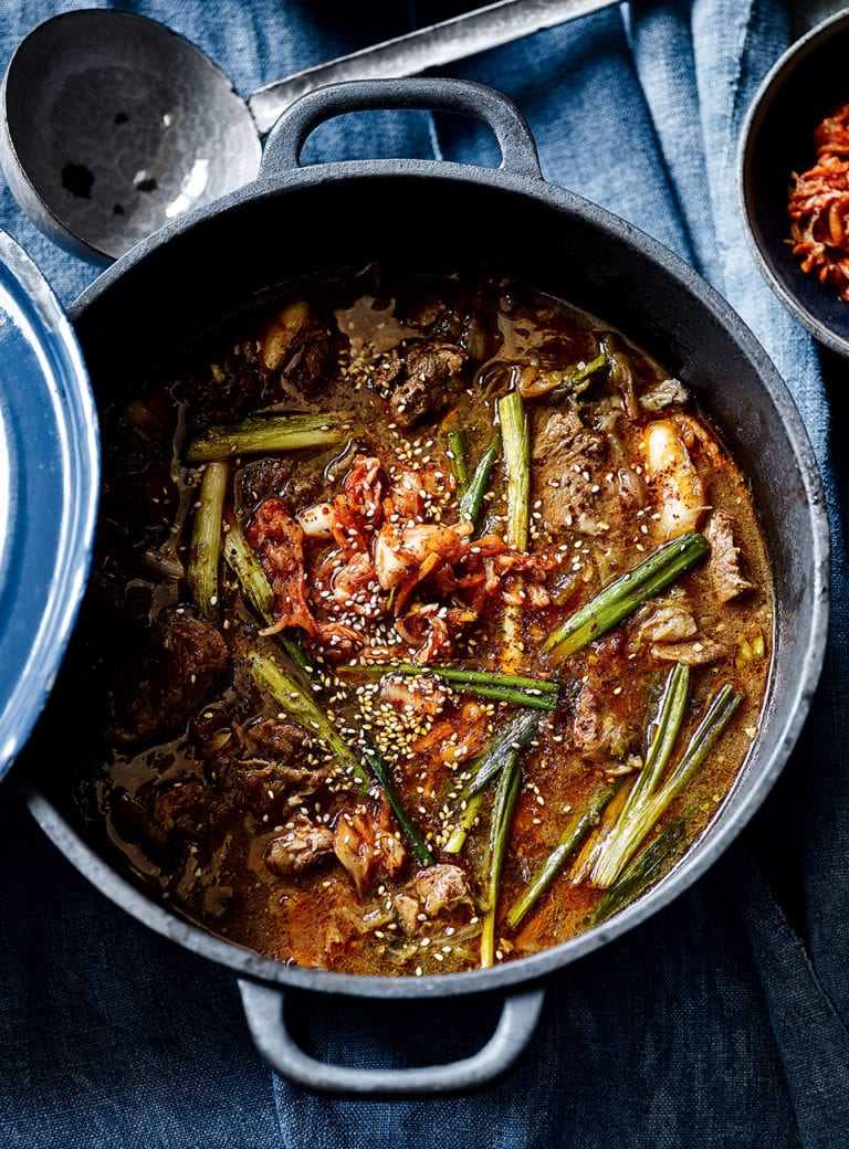 Pork and kimchee stew