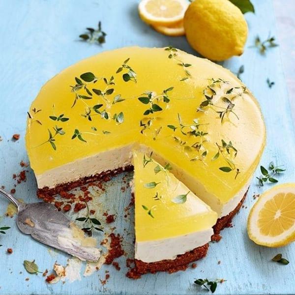 gin and ttonic cheesecake