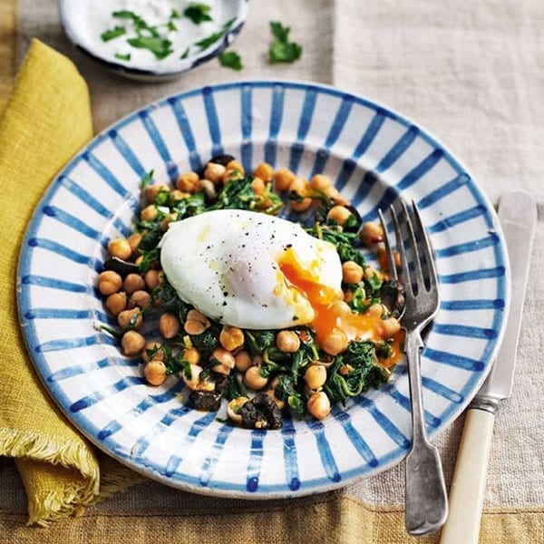 eggs and chickpeas