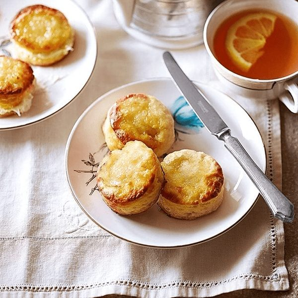 Lemon sugar cube scones