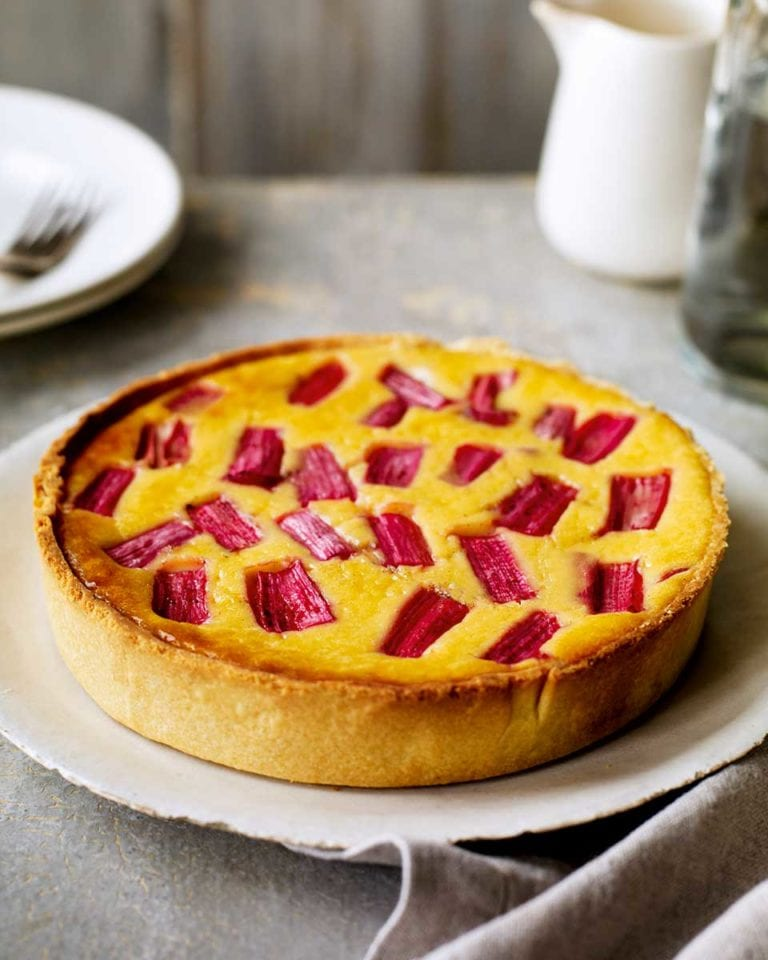 Ultimate rhubarb and custard tart