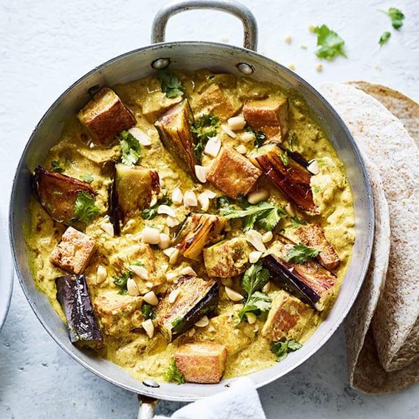 aubergine and tofu curry