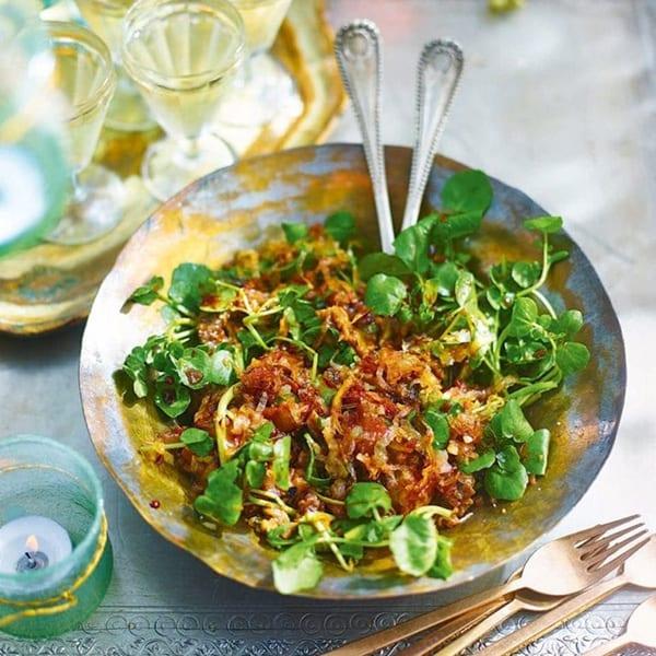 aubergine salad with shallots