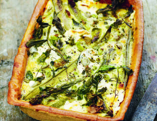 Asparagus and goat's cheese tart