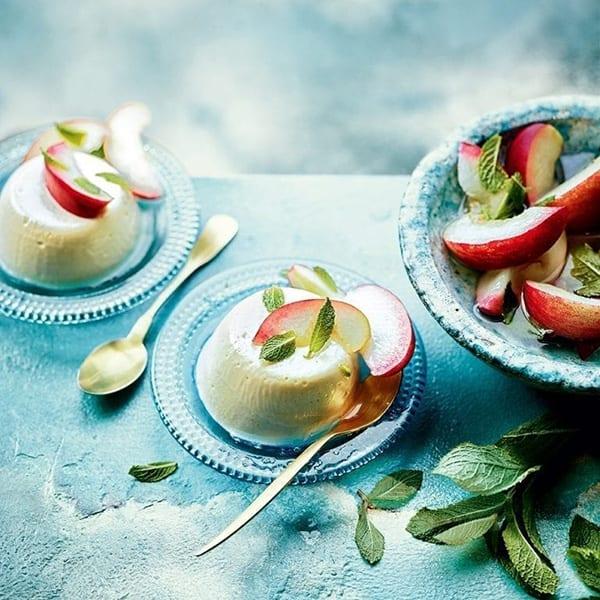 peach pannacotta