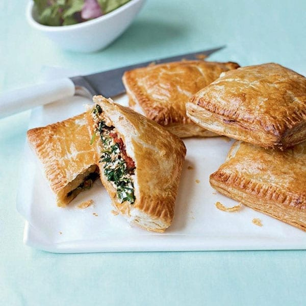 vegetable and ricotta pasties