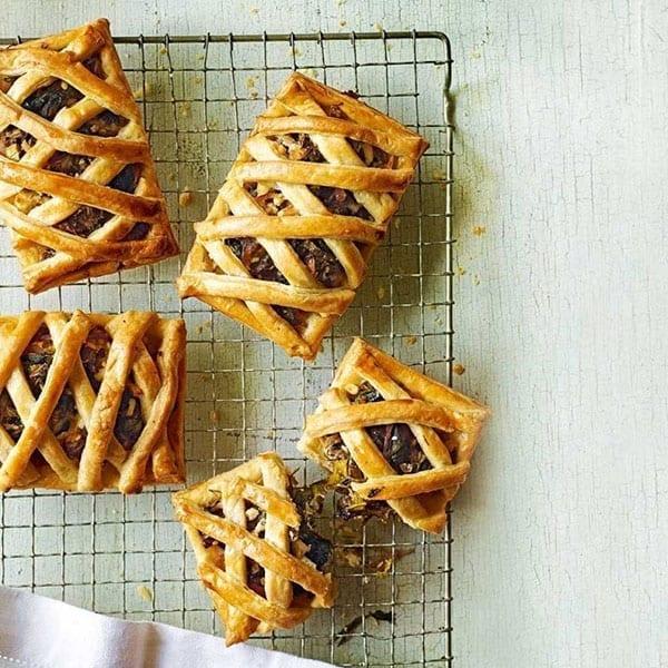 Greek cheese lattice tart