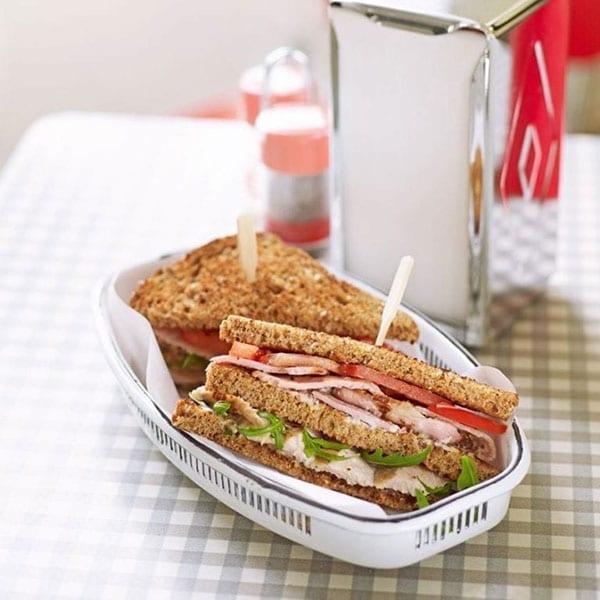 healthier club sandwich