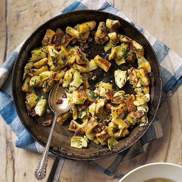 Gnocchi with artichokes