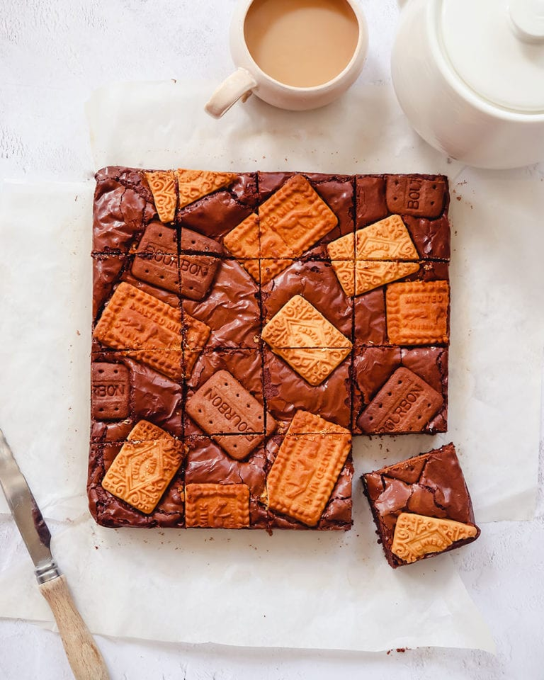 Tea and biscuit brownies
