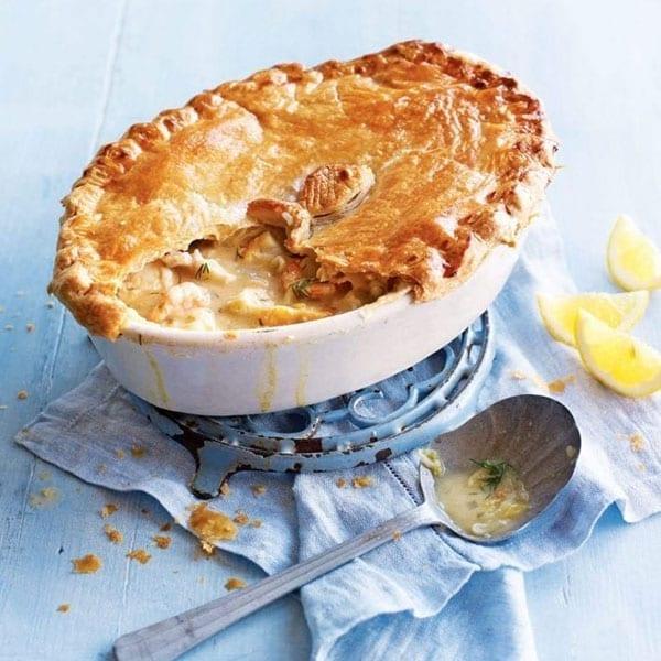 Caper, lemon and dill fish pie