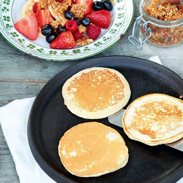 Jam jar pancakes