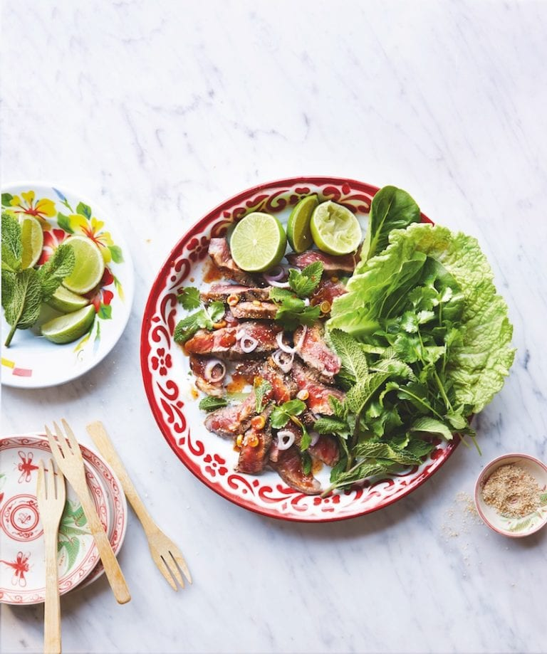 Thai waterfall beef salad (neua nam tok)