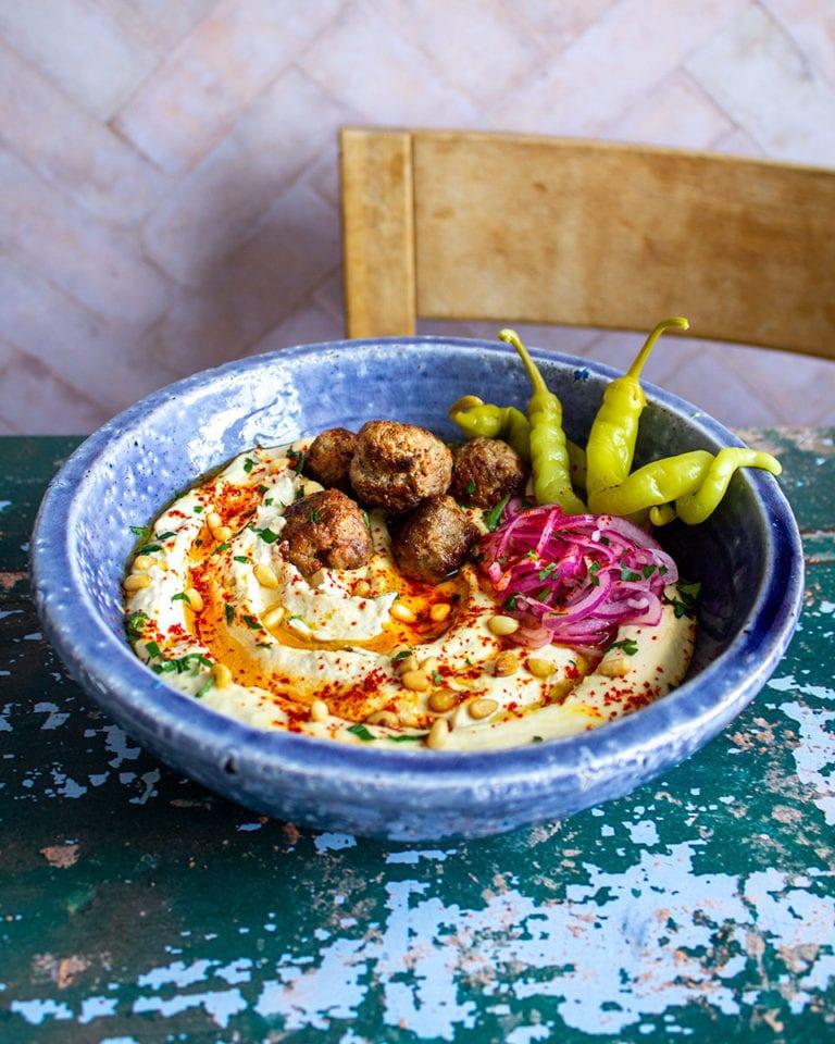 Lamb kofta houmous bowls