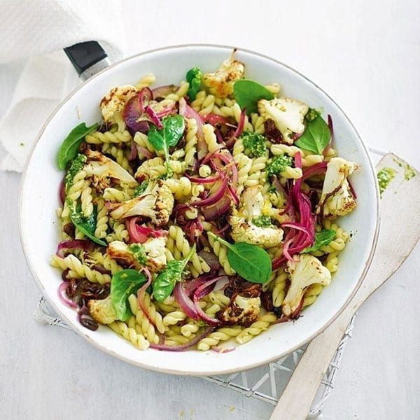 Cauliflower and pesto pasta