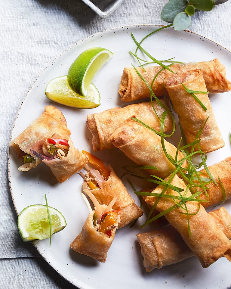 Vegetable and sweet chilli spring rolls