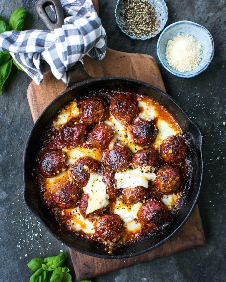 Slow-baked meatballs