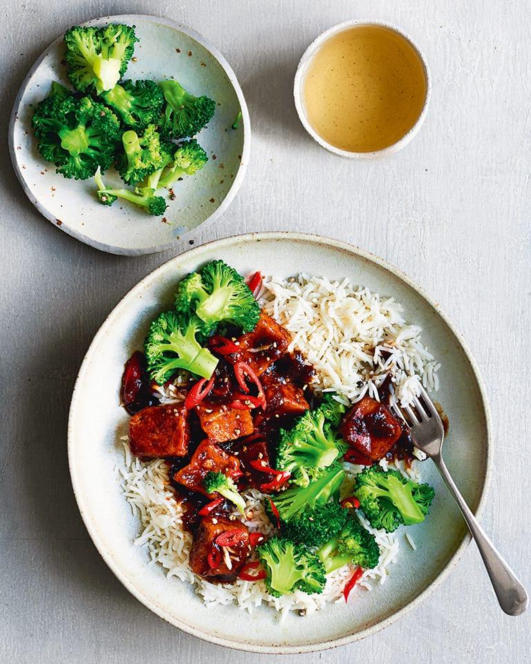 Vegan tofu stir-fry
