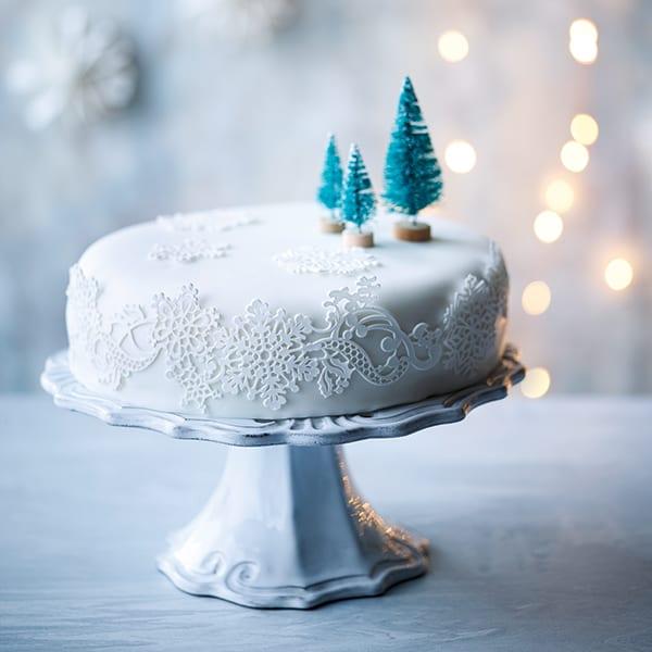 Snowy cake
